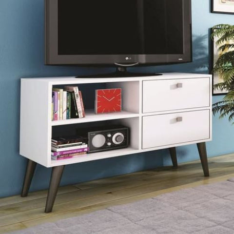 Accentuations by Manhattan Comfort Practical Dalarna TV Stand with 2 Open Shelves and 2-Drawers - TV Stands