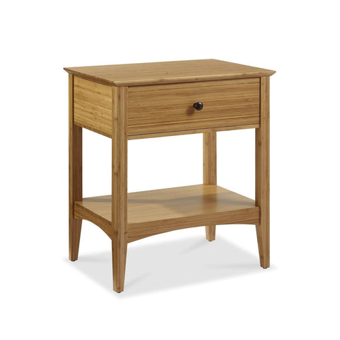 Eco Ridge by Bamax WILLOW Bamboo 1 Drawer Nightstand - Caramelized - Nightstand