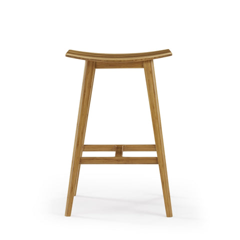 Eco Ridge by Bamax TIGRIS Bamboo 26 Counter Height Stool - Caramelized with Exotic Tiger (Set of 2) - Stools