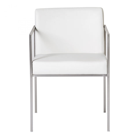 Moes Capo Arm Chair White-M2 - Dining Chairs