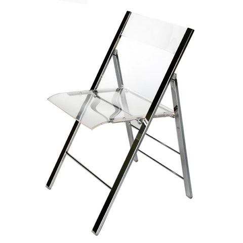 Baxton Studio Acrylic Foldable Chair - Home Office Furniture