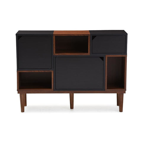 Baxton Studio Anderson Mid-century Retro Modern Oak and Espresso Wood Sideboard Storage Cabinet - Living Room Furniture