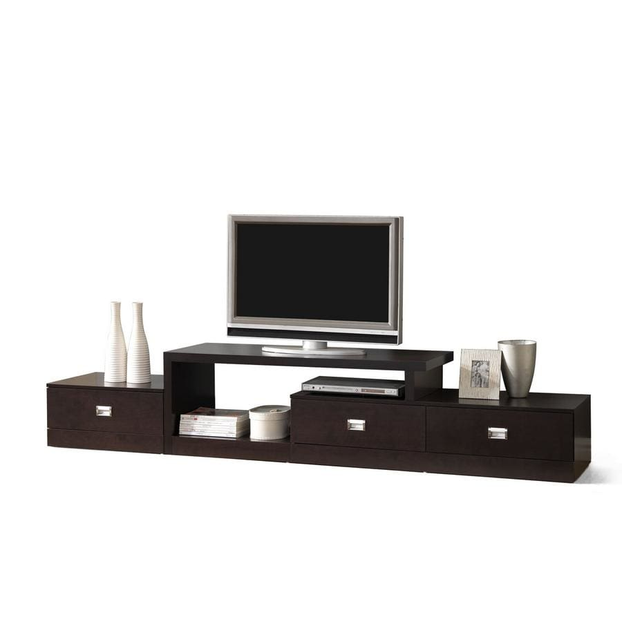 Baxton Studio Marconi Brown Asymmetrical Modern TV Stand - Living Room Furniture