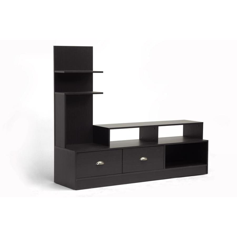 Baxton Studio Armstrong Dark Brown Modern TV Stand - Living Room Furniture