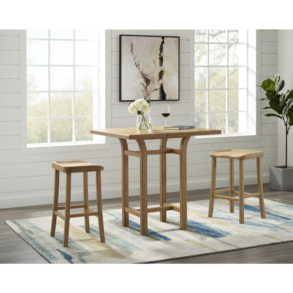 Greenington TULIP Bamboo 26 Counter Height Stool - Caramelized (Set of 2)