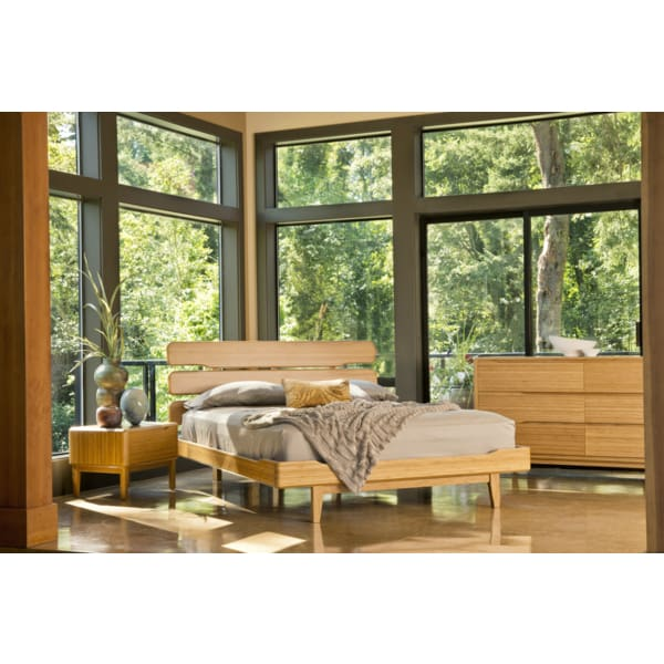 Greenington 3pc CURRANT Bamboo California King Platform Bedroom Set - Caramelized - Bedroom