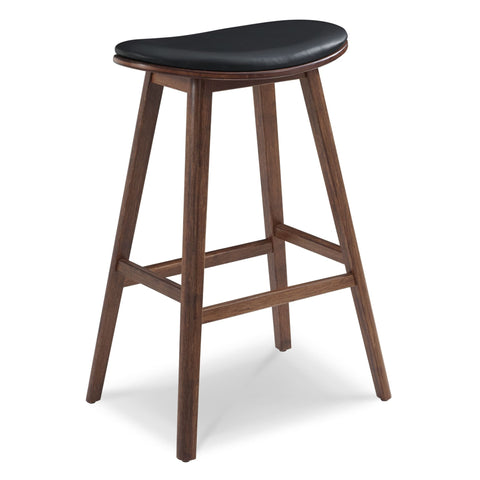 Greenington CORONA Bamboo 26 Counter Height Stool with Leather Seat- Exotic (Set of 2) - Stools