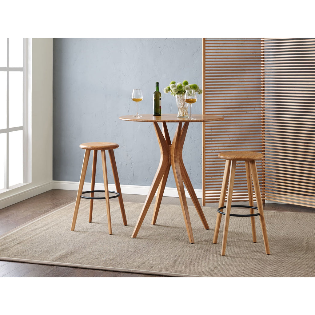 Greenington MIMOSA Bamboo 30 Bar Height Stool - Caramelized (Set of 2)