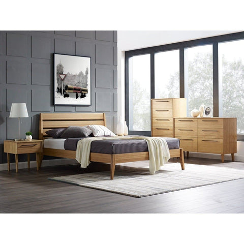 Greenington 5pc SIENNA Bamboo Queen Platform Bedroom Set - Caramelized - Bedroom