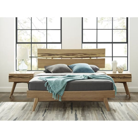 Greenington 3pc AZARA Bamboo Eastern King Platform Bedroom Set - Caramelized with Exotic Tiger - Bedroom