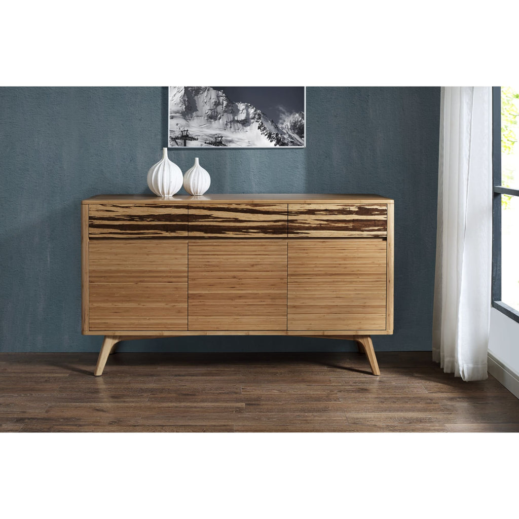 Greenington AZARA Bamboo Sideboard - Caramelized with Exotic Tiger