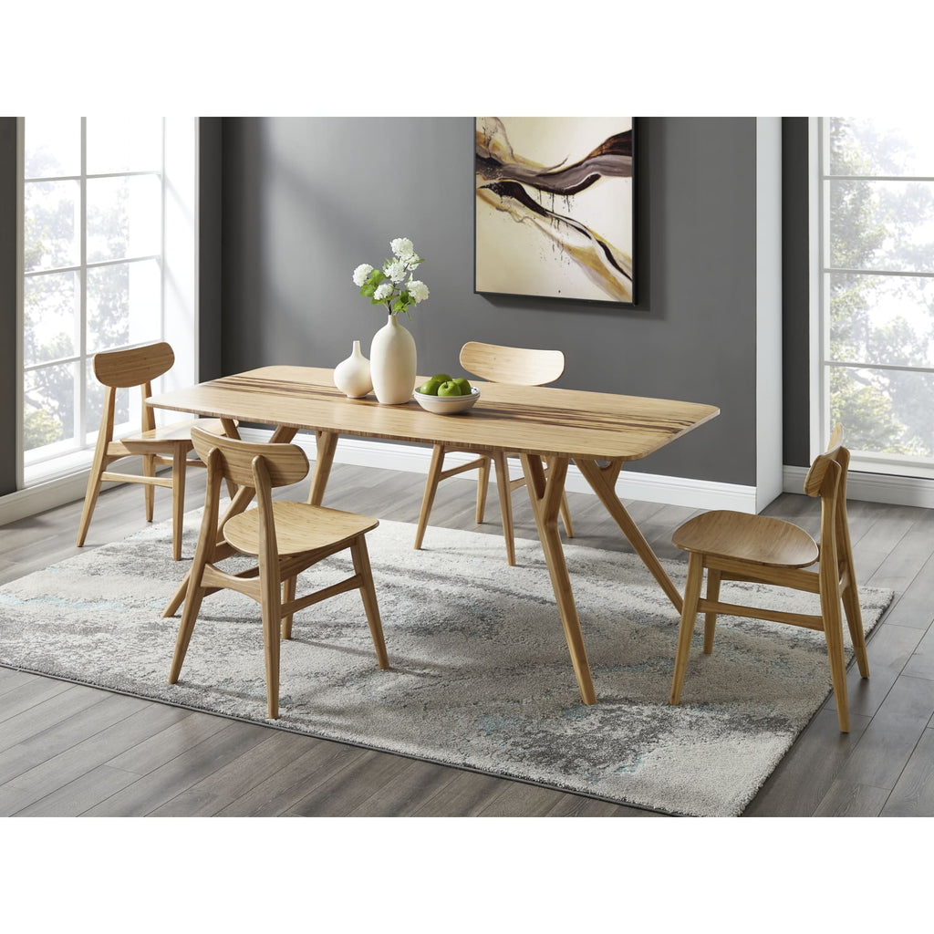 Greenington AZARA Bamboo Dining Table - Caramelized with Exotic Tiger