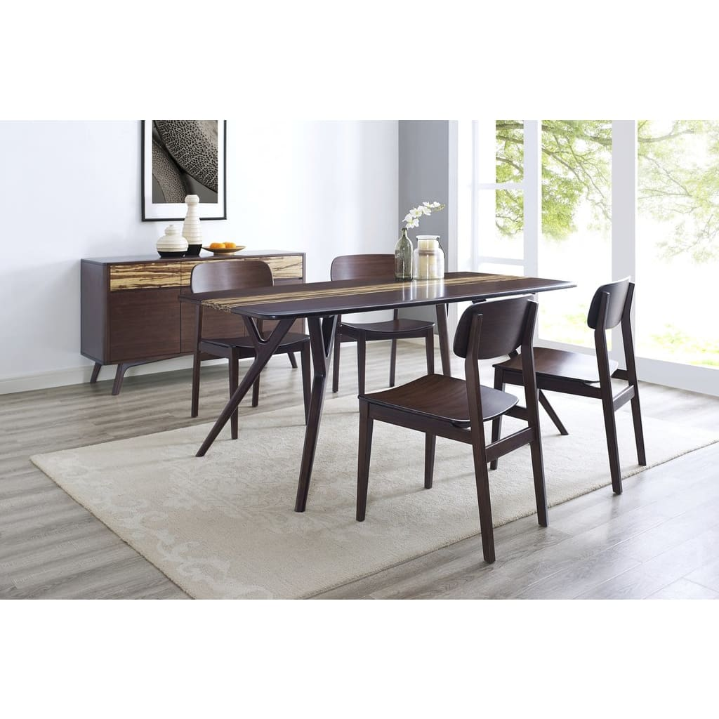 Greenington AZARA Bamboo Dining Table - Sable with Exotic Tiger