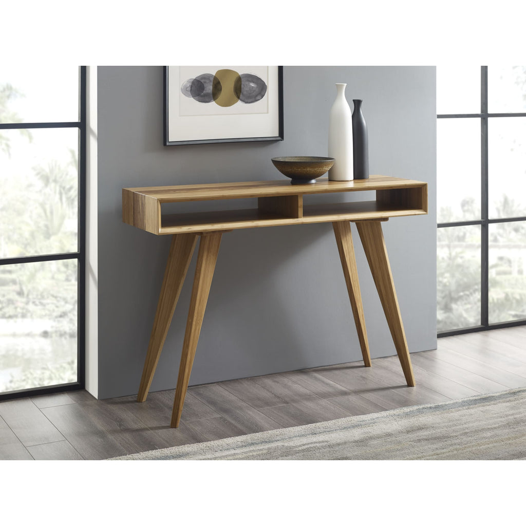 Greenington AZARA Bamboo Console Table - Caramelized with Exotic Tiger