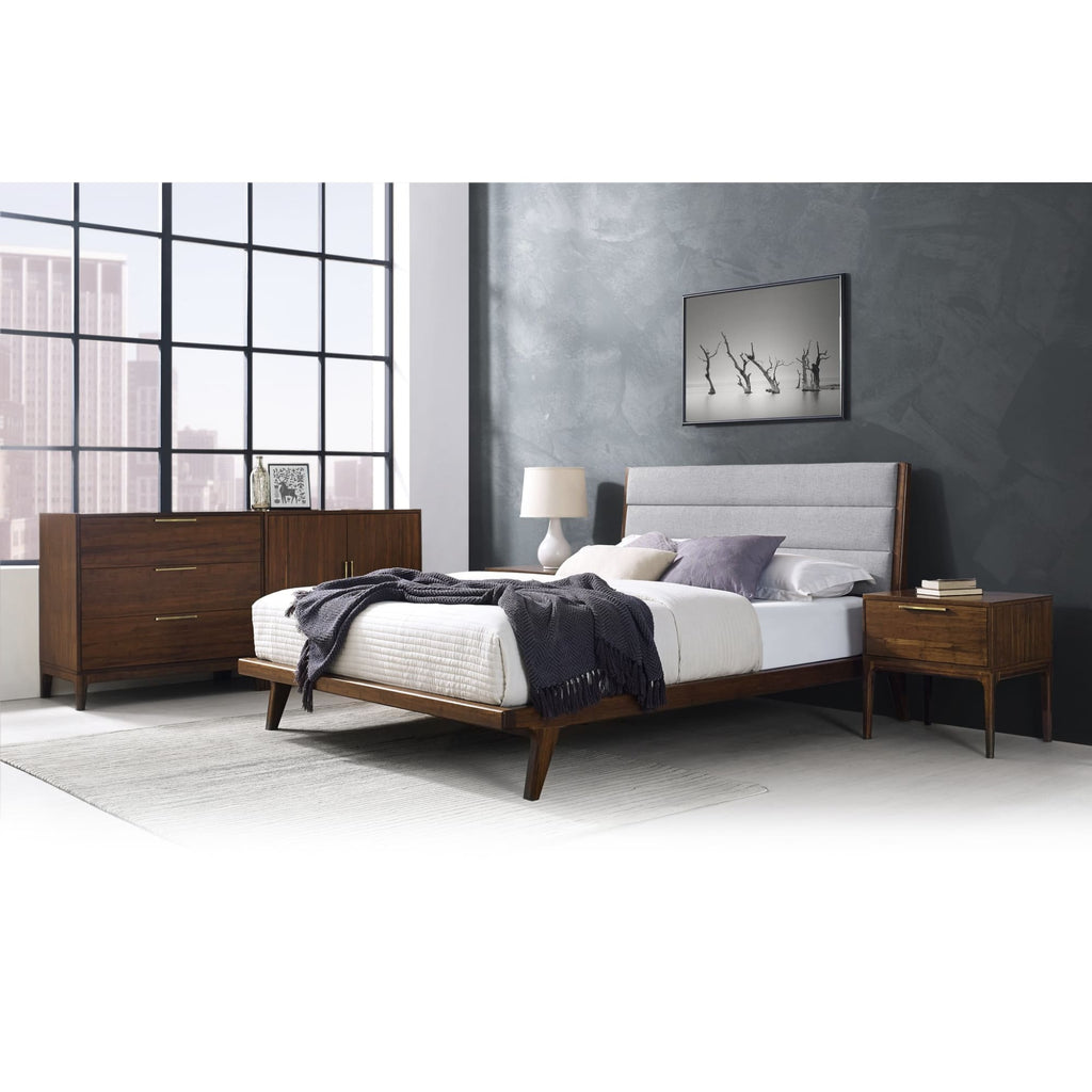 Greenington MERCURY Bamboo Upholstered Queen Platform Bed - Exotic