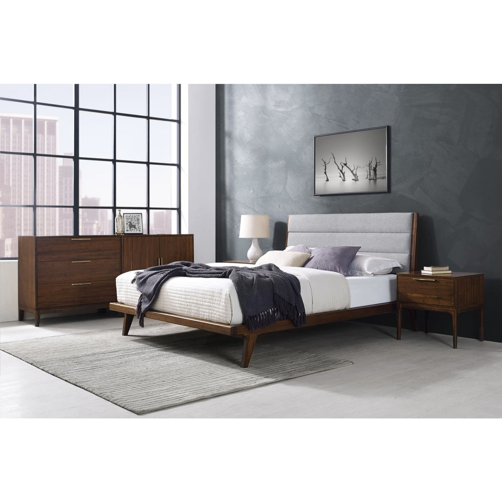 Greenington MERCURY Bamboo Upholstered California King Platform Bed - Exotic
