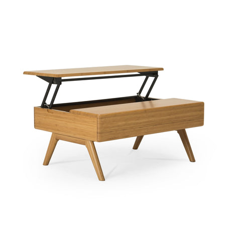 Greenington RHODY Bamboo Lift-Top Coffee Table - Caramelized - Coffee Tables