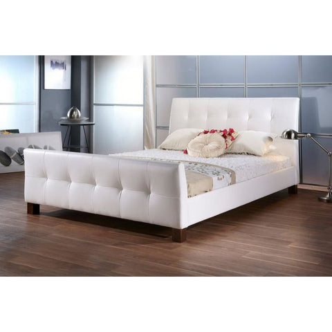 Baxton Studio Amara White Modern Bed - Queen Size - Bedroom Furniture