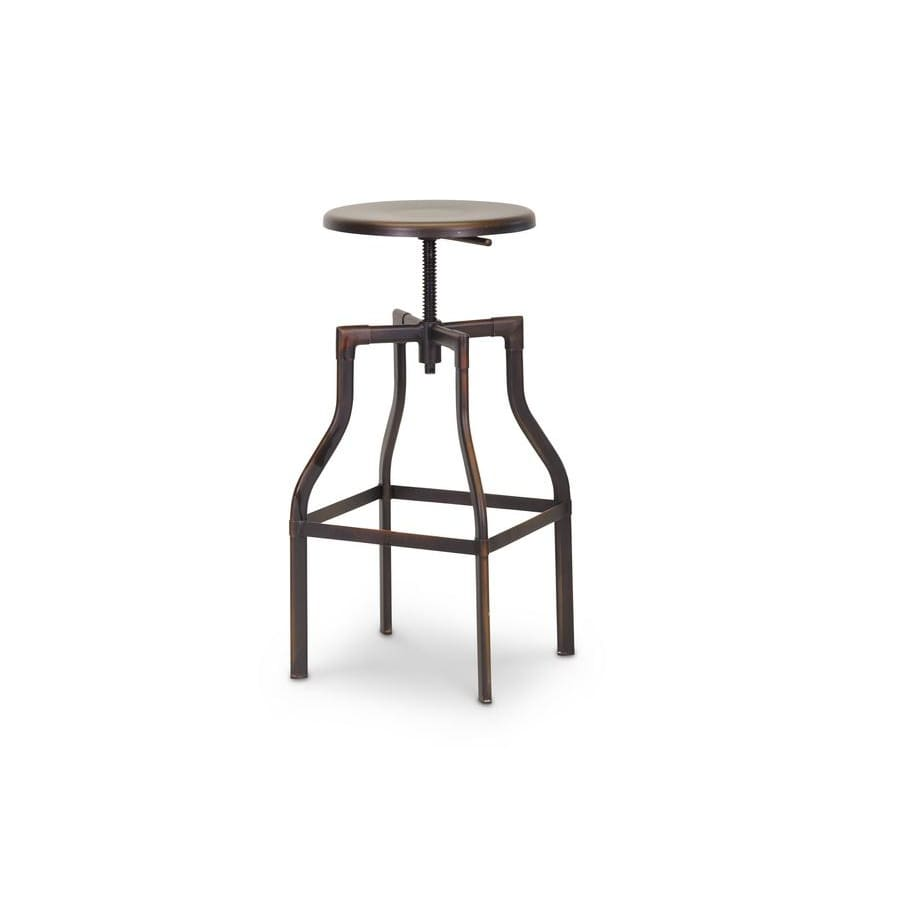 Baxton Studio Architects Industrial Bar Stool in Antiqued Copper - Bar Furniture