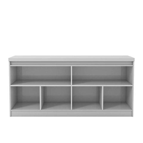 Manhattan Comfort Viennese 62.99 in. 6-Shelf Buffet Cabinet - White Gloss - Dining Tables