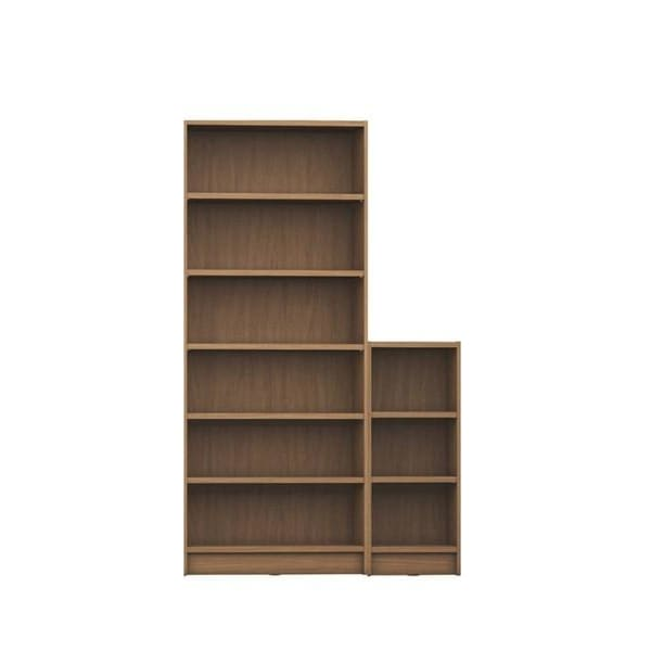Manhattan Comfort Greenwich 2-Piece Bookcase 9-Wide Shelves - Maple Cream - Shelves & Cases