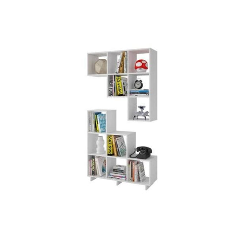 Accentuations by Manhattan Comfort Sophisticated Cascavel Stair Cubby with 6 Cube Shelves - Shelves & Cases