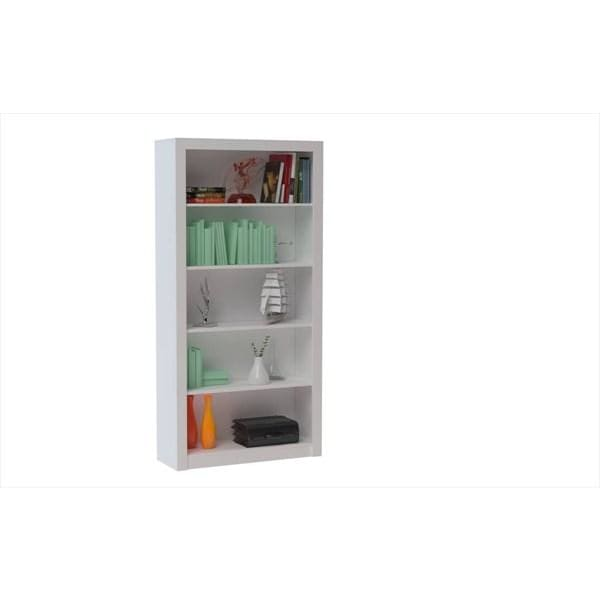 Accentuations by Manhattan Comfort Classic Olinda Bookcase 1.0 with 5 Shelves - White - Shelves & Cases