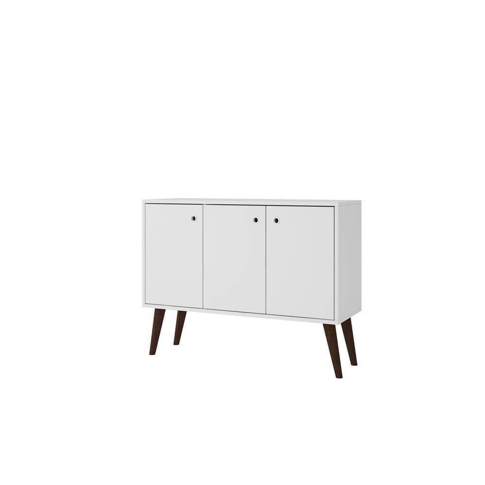 Manhattan Comfort Bromma 35.43 Buffet Stand with 3 Shelves and 3 Doors - White - Other Tables