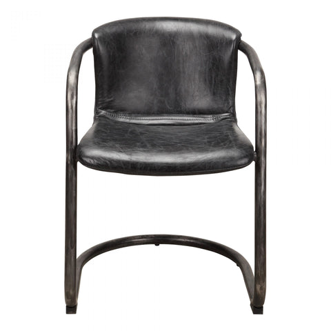 Moes Freeman Dining Chair Antique Black-M2 - Dining Chairs