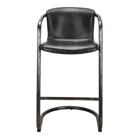 Moes Freeman Barstool Antique Black-M2 - Dining Chairs