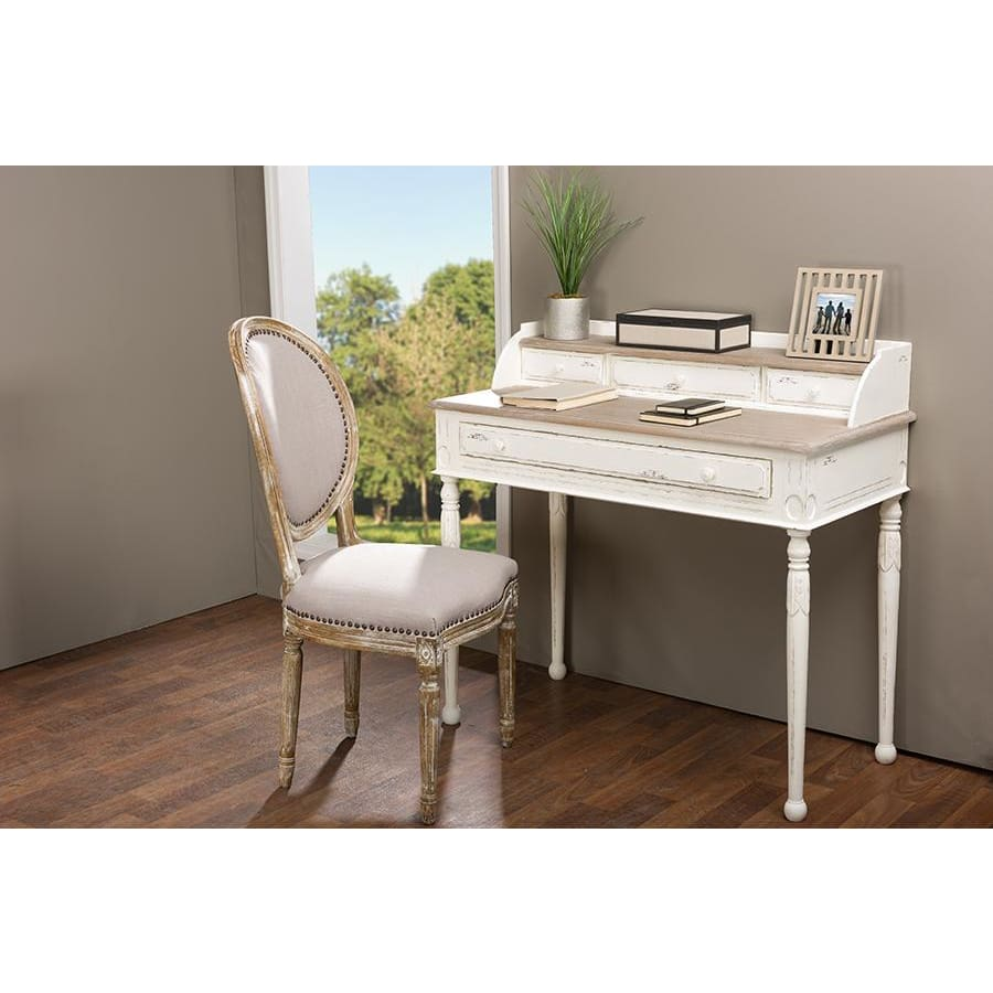 Baxton Studio Anjou Traditional French Accent Writing Desk - Home Office Furniture
