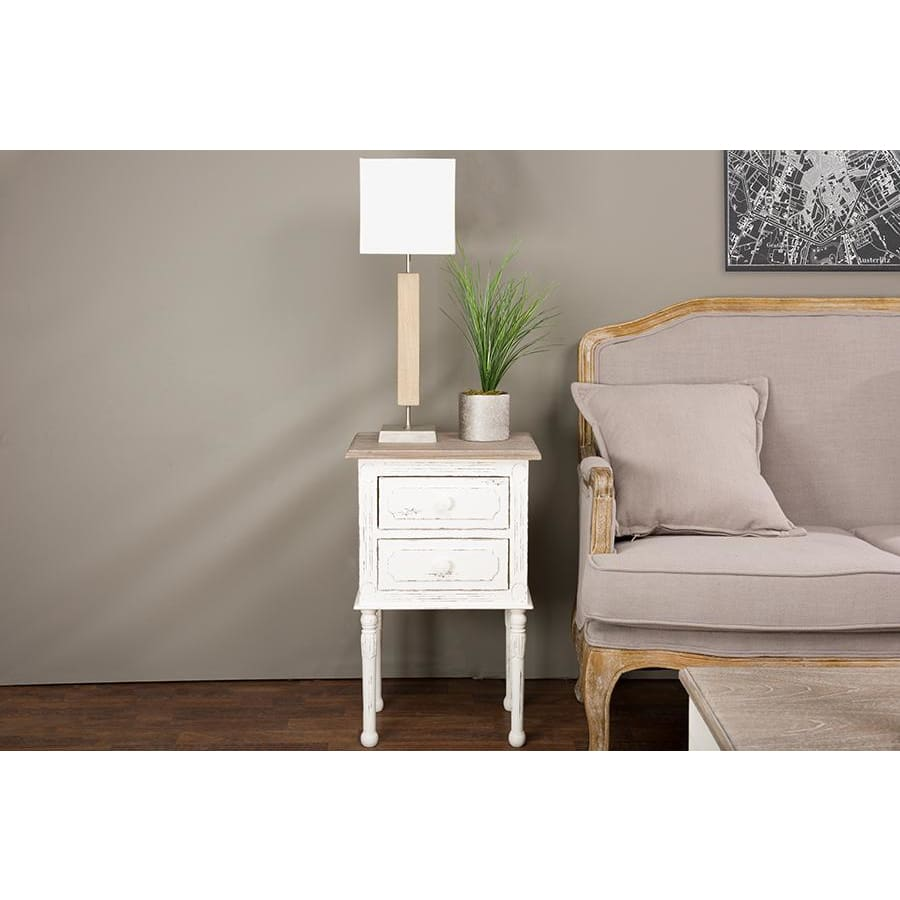 Baxton Studio Anjou Traditional French Accent Nightstand - Bedroom Furniture