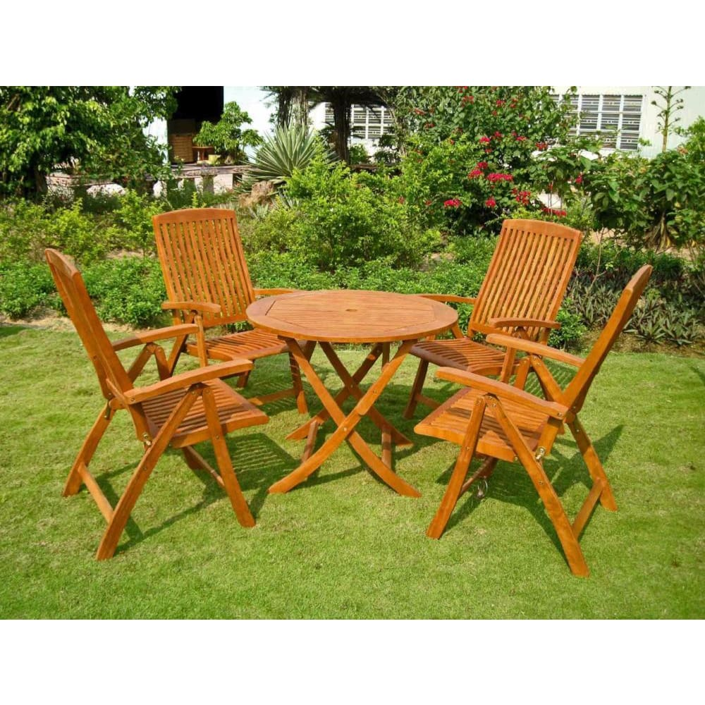 International Caravan Royal Tahiti Cartagena 5-Piece Dining Set - Outdoor Furniture