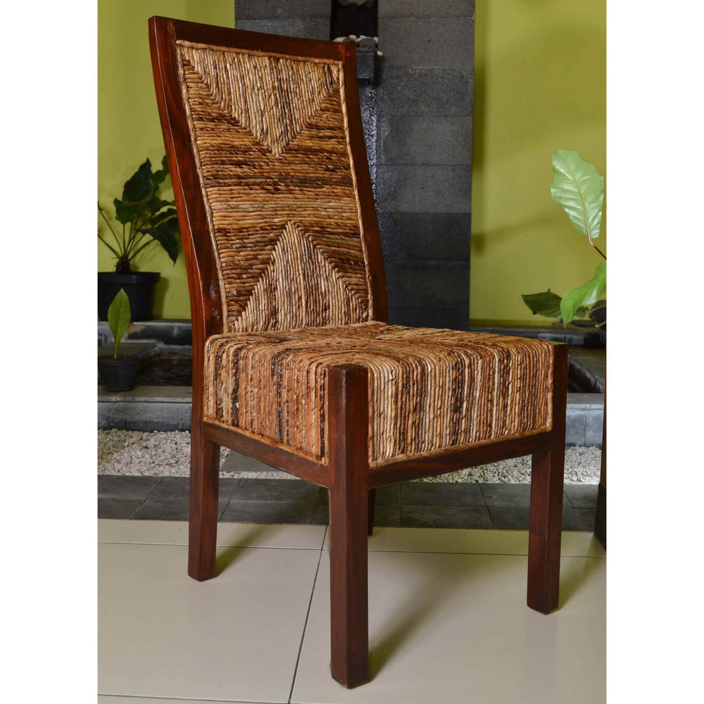 International Caravan Set of Two Dallas Abaca Weave Dining Chair - Chairs