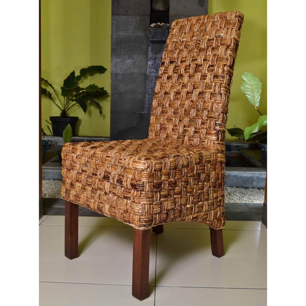 International Caravan Set of Two Victor Woven Abaca Dining Chair - Chairs