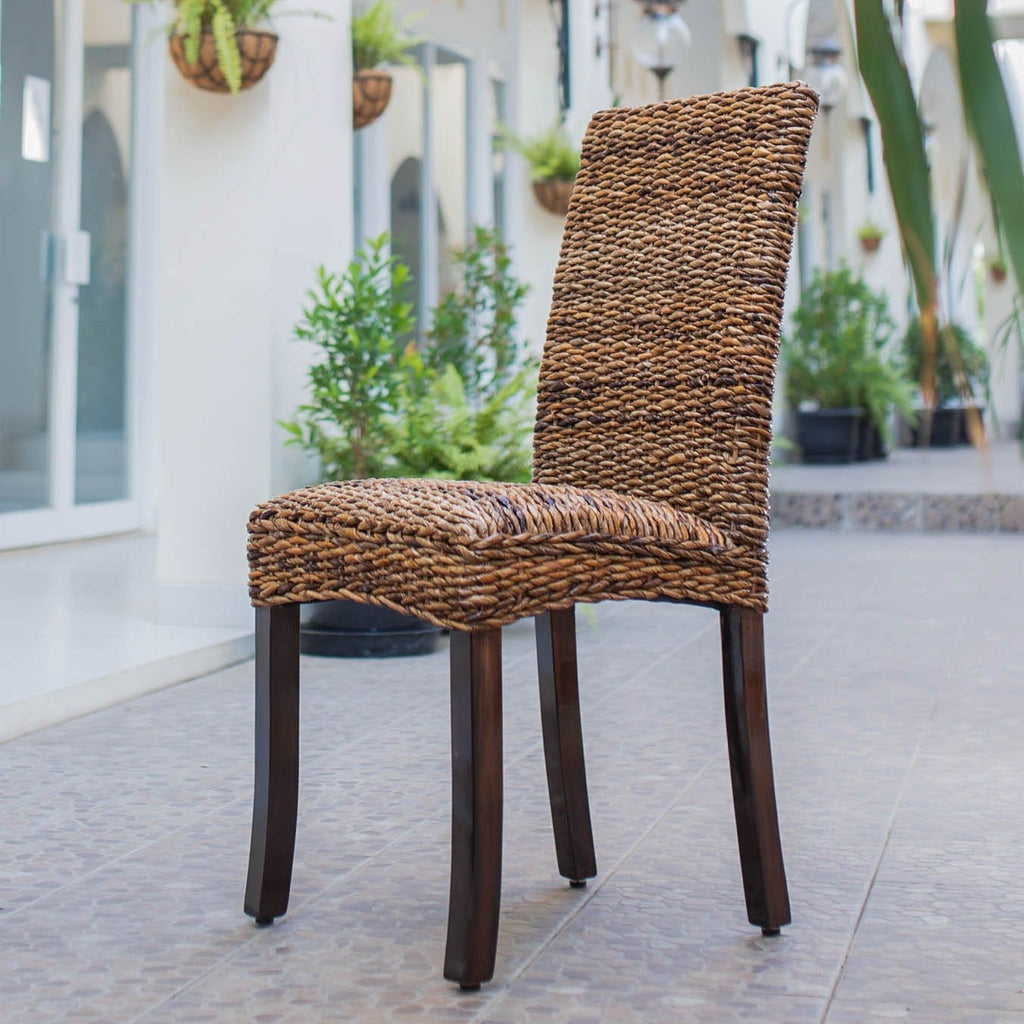 International Caravan Louisa Abaca Cushioned Seat Dining Chair - Chairs