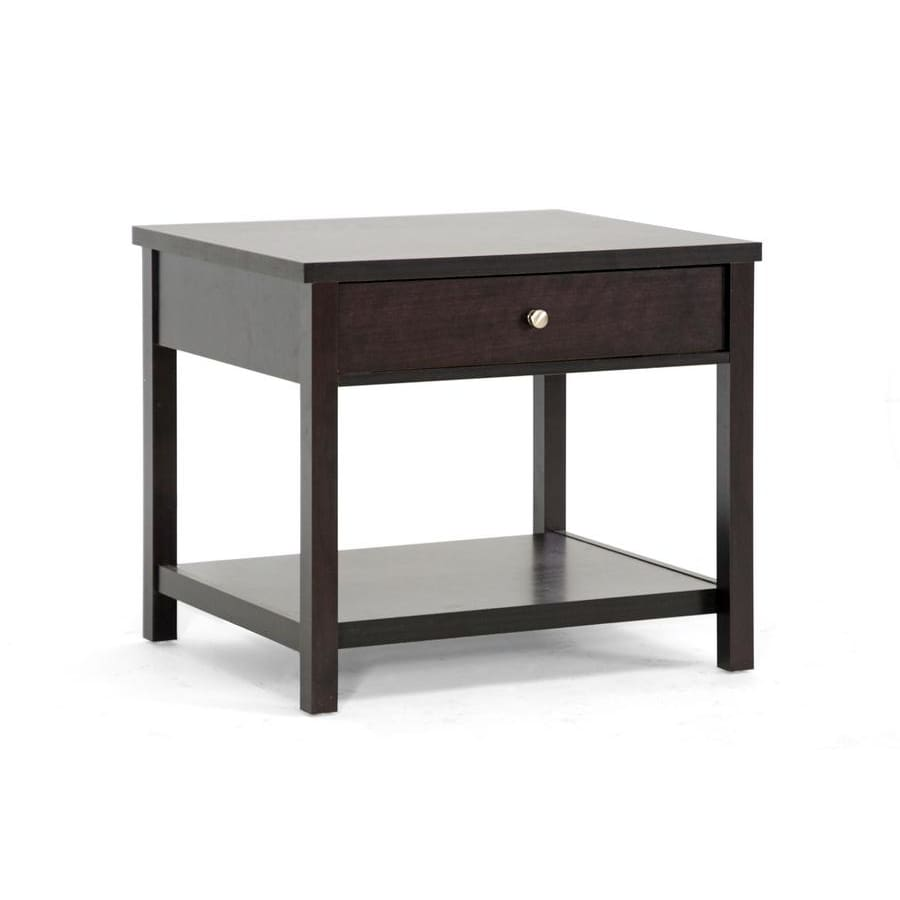 Baxton Studio Nashua Brown Modern Accent Table and Nightstand - Bedroom Furniture