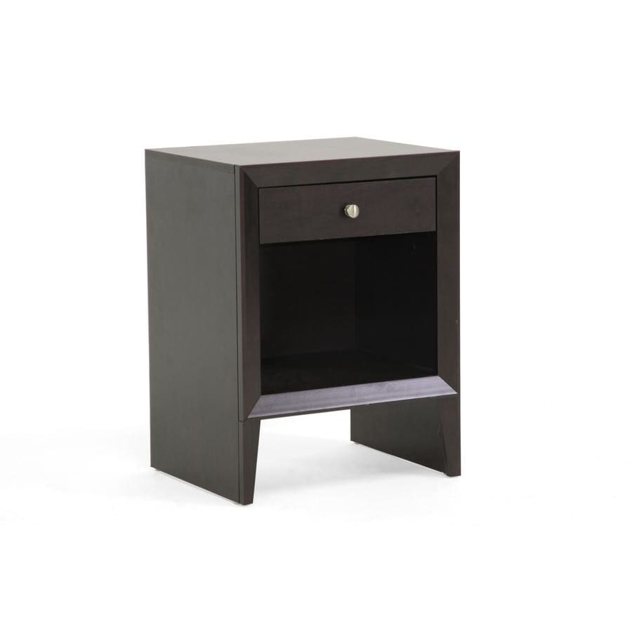 Baxton Studio Leelanau Brown Modern Accent Table and Nightstand - Bedroom Furniture