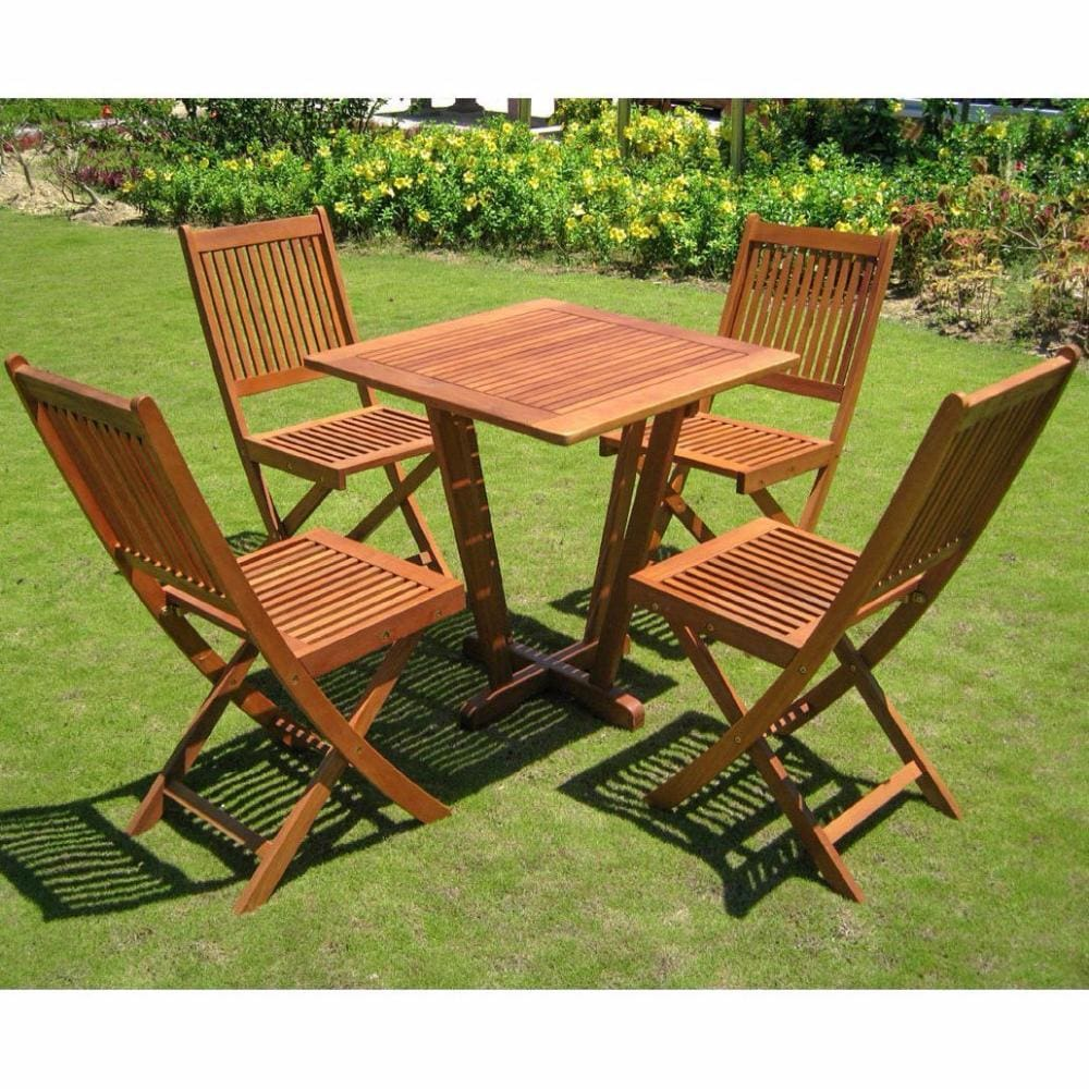 International Caravan Royal Tahiti Cadiz Five Piece Patio Set - Outdoor Furniture