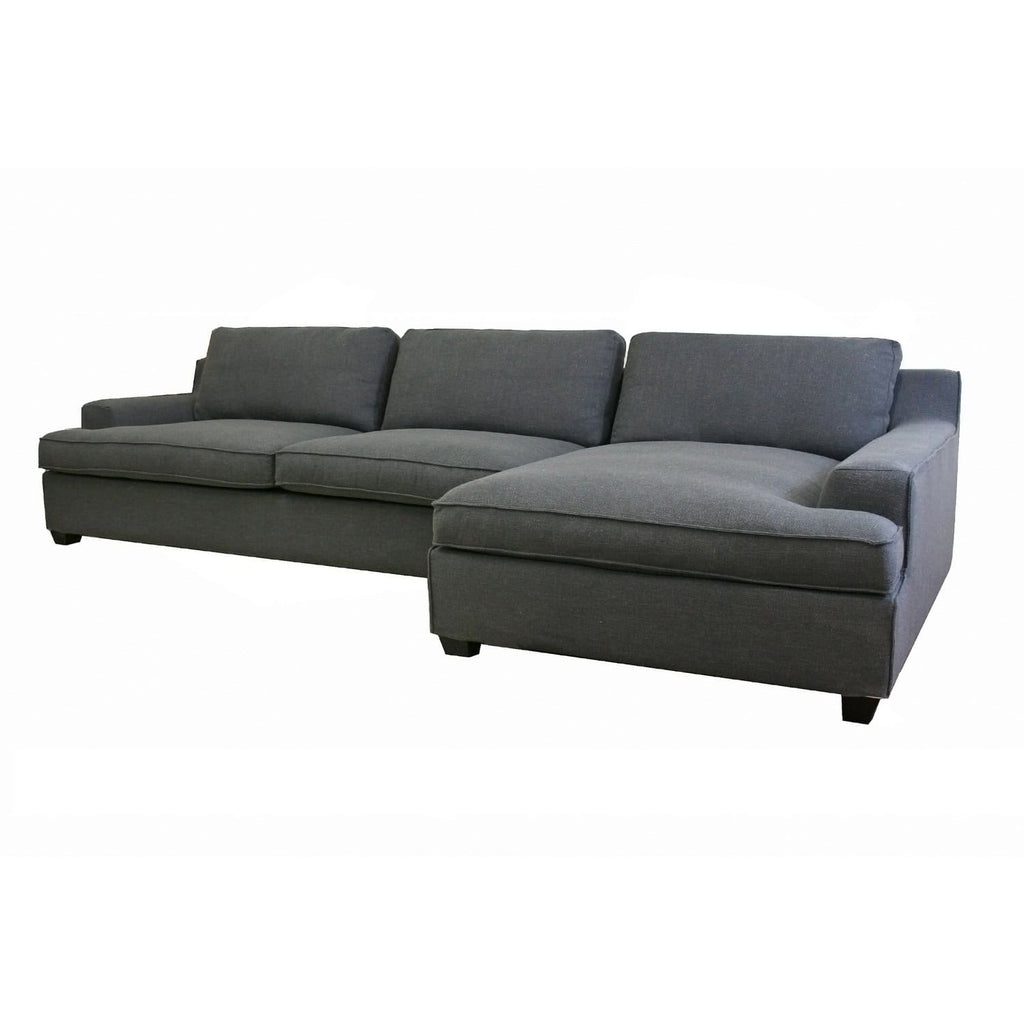Baxton Studio Alcoa Gray Fabric Modular Modern Sectional Sofa - Living Room Furniture