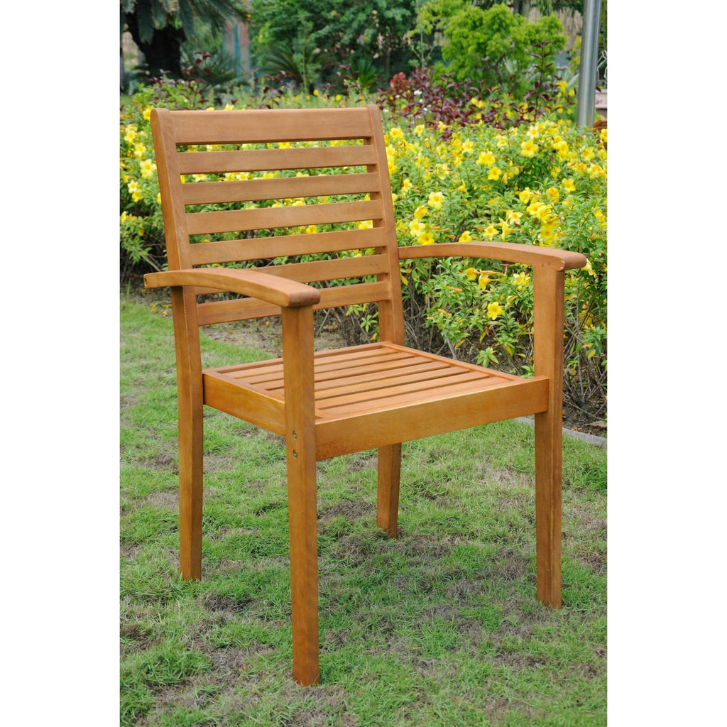 International Caravan Royal Tahiti Set of 2 Oslo Outdoor Contemporary Chairs - Outdoor Furniture