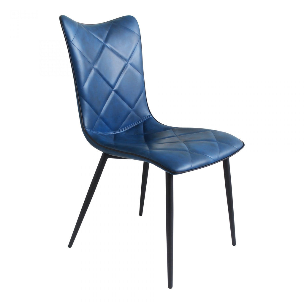 Moes Josie Dining Chair Blue-M2 - Dining Chairs