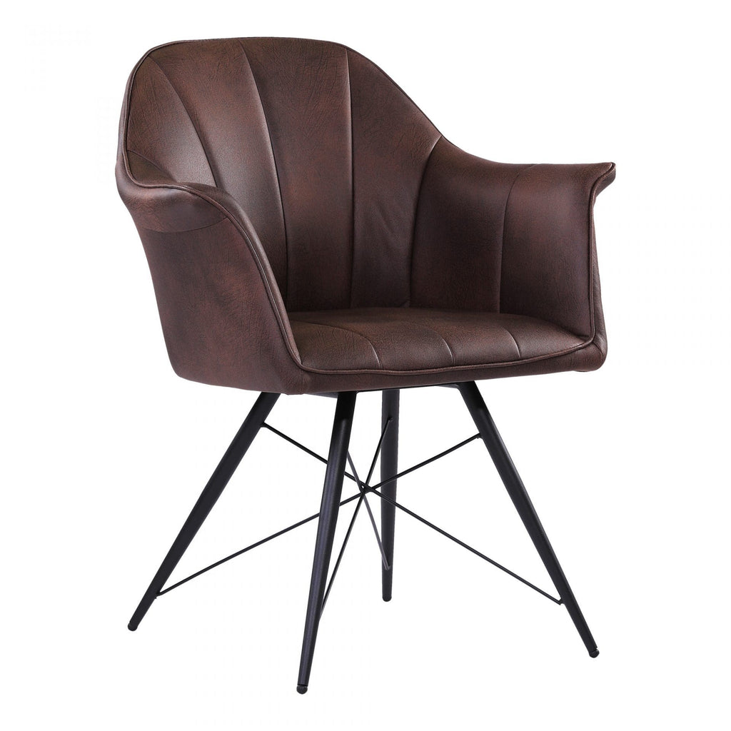Moes Olivier Dining Chair Coffee - Dining Chairs