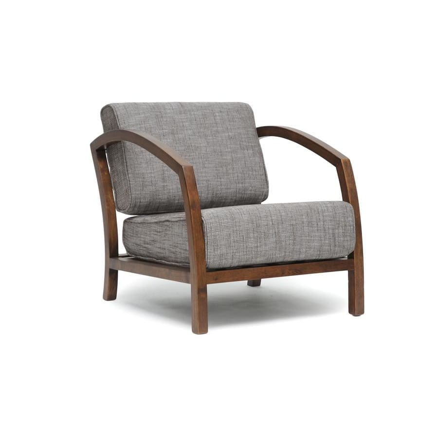 Baxton Studio Velda Brown and Gravel Modern Accent Chair - Living Room Furniture