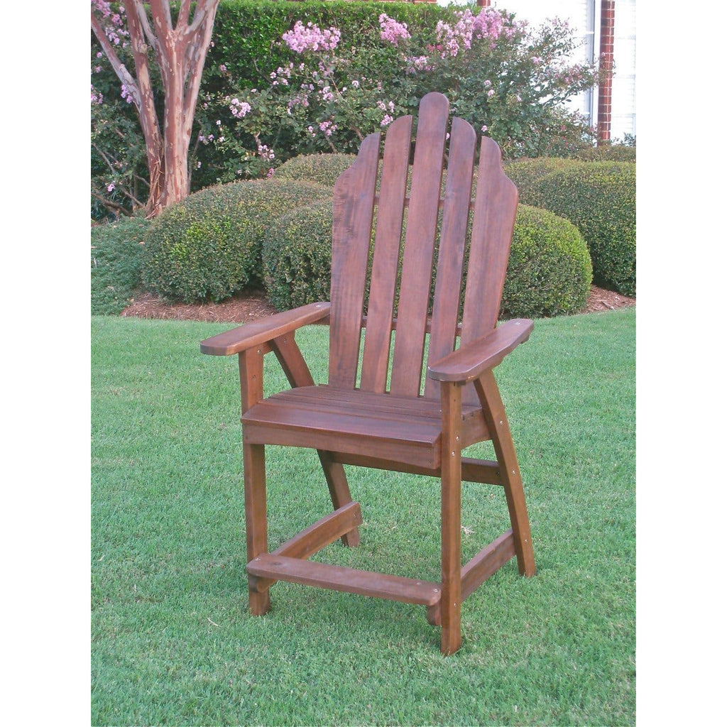 International Caravan Wood Adirondack Bar Chair - Outdoor Furniture