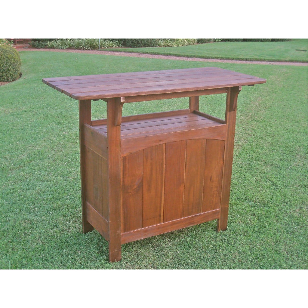 International Caravan Wood Bar Table - Outdoor Furniture