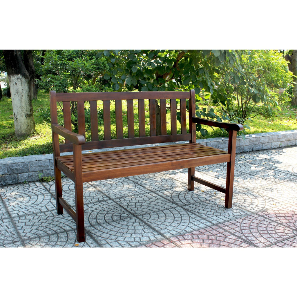 International Caravan Outdoor 4 Foot Wood Bench - Brown - Benches