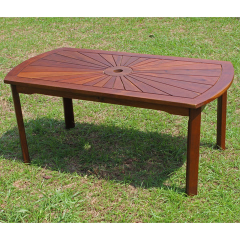International Caravan Highland Acacia Sunburst Coffee Table - Coffee Tables