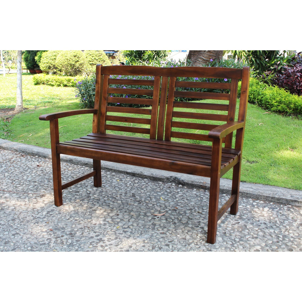 International Caravan Acacia Trinidad Bench - Outdoor Furniture