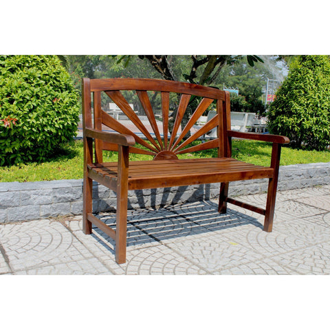 International Caravan Acacia Sapporo Bench - Outdoor Furniture